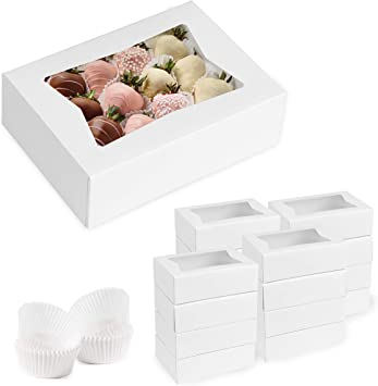 Amazon Com Set Of 15 Boxes For Chocolate Covered Strawberries With 180 Grease Resistant Holders Home Improvement