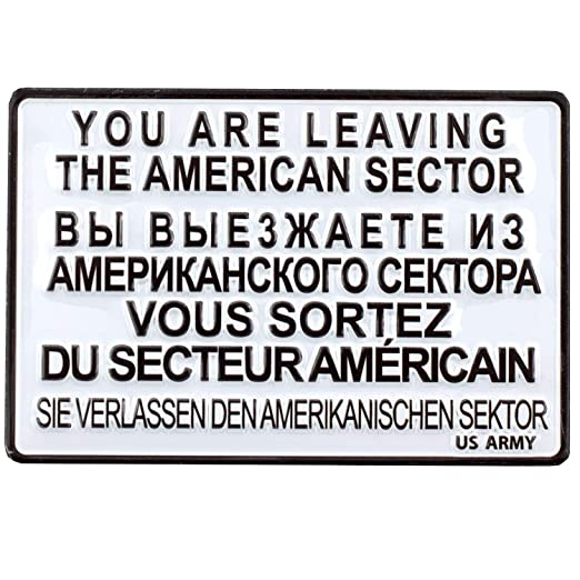PS&P You Are Leaving The American Sector | US Army | Cartel de Chapa magnético | Frigorífico magnético | Mini de Cartel de Chapa 9 x 6 cm