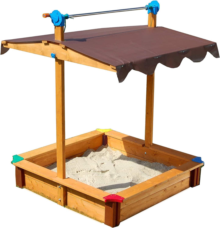 Exaco Sandbox with Adjustable Roof