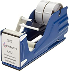 "Bertech General Purpose Tape Dispenser, For 2"" Wide Tapes"