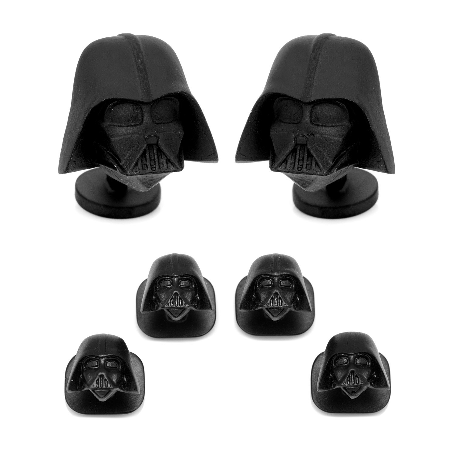 CUFFLINKS INC 3D Darth Vader Head Stud Set (Black)