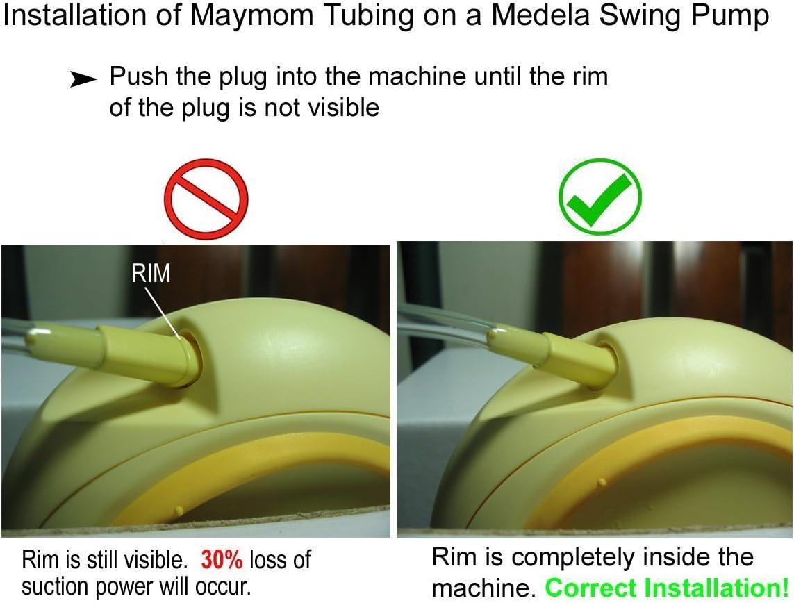 Maymom-Schlauch f/ür Swing Maxi Flex Doppel pumpenschlauch