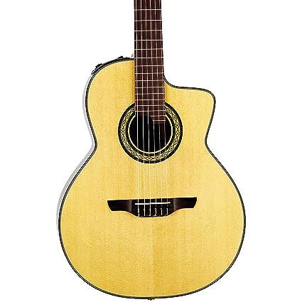 TAKAMINE Pro Serie tc135sc acústica eléctrica 14 trastes para guitarra clásica, Natural con funda