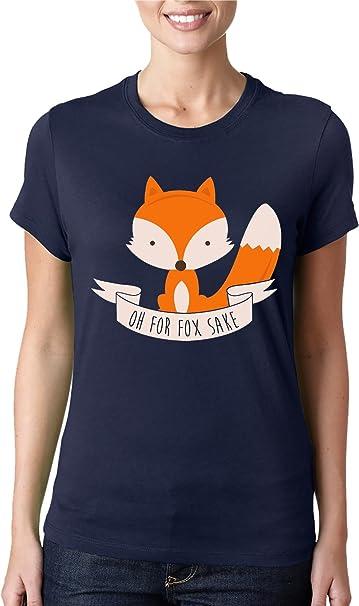 Oh para Fox Sake camiseta mujer camiseta de corte clásico Azul azul Large: Amazon.es: Ropa y accesorios