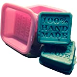 (10-Pack) Soap Molds - 100% Handmade Square Silicon - Sapone