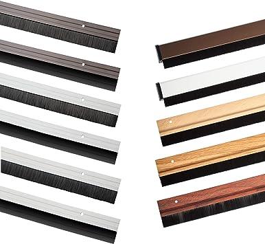 B/ürstendichtung braun Aluminium T/ürbodendichtung in 2 Varianten und 5 Farben