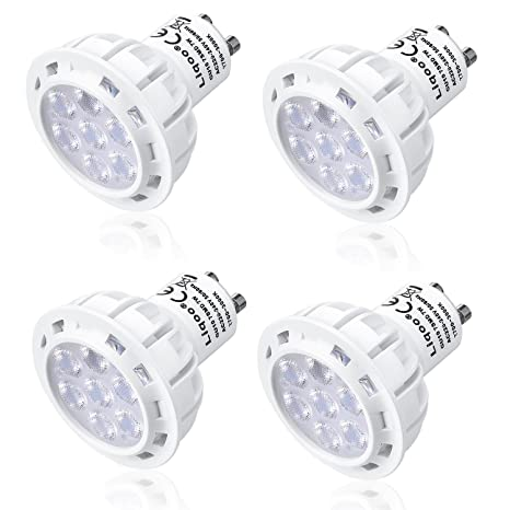 Liqoo 4x 7W Bombilla LED GU10 LED Blanco cálido 2800K AC 220V - 240V Foco LED