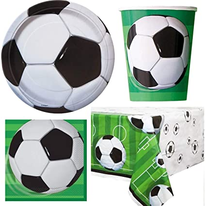 Amazon.com: Fútbol Party Pack de vajilla para 16 personas ...