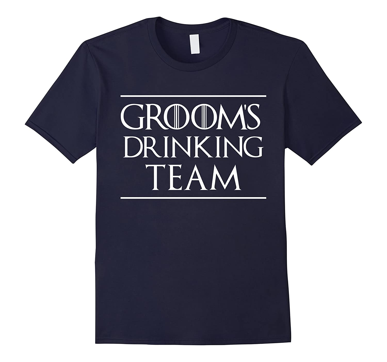 Groom's Drinking Team bachelor party funny gift t-shirts-BN