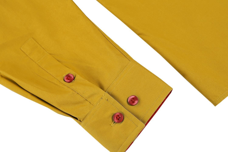 Coofandy Camicie Casual Uomo Maniche Lunghe Shirt Slim Fit Taglie S-XXXL