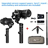 FeiyuTech G6 Plus 3-Axis Brushless Handheld Gimbal Stabilizer Splash-Proof 800g Payload 12 Hours Running Time for Smartphone,Action Camera Gopro,Digital Cameras,Including Tripod and Extra Battery