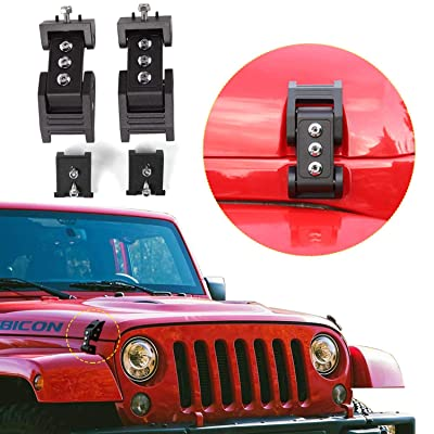 RT-TCZ Hood Latches Hood Lock Catch Latches Kit Anti-Theft for Jeep Wrangler: Automotive