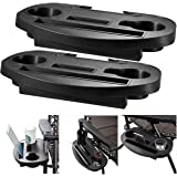 Fineway. 2 x Clip On Side Table Tray For Zero Gravity Sun Lounger/Camping Chair Outdoor Garden Fishing Beach Storage Tidy – Ideal for Drink, Mobile Phone, Books, Ipad Tablet Holder