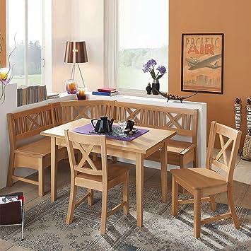 Pharao24 Essecke aus Buche Massivholz mit ausziehbarem Tisch: Amazon ...