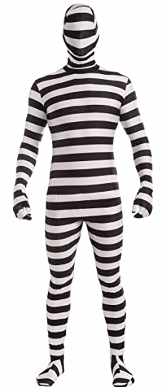 Forum Novelties Disappearing Man Patterned Stretch Body Suit Costume