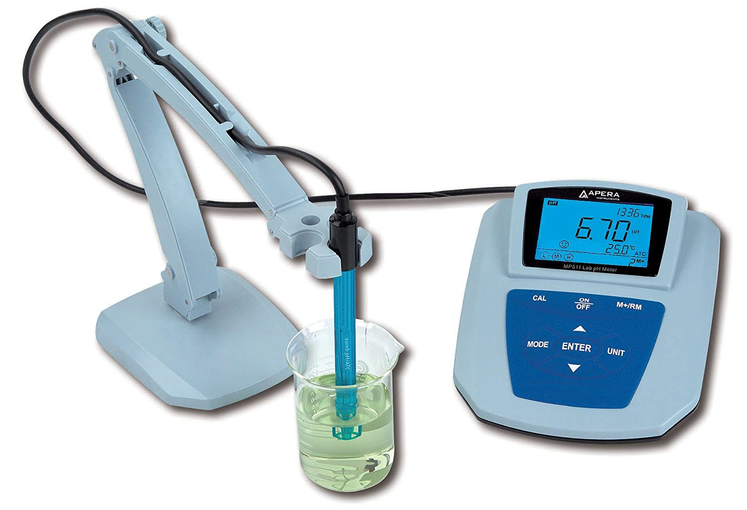 ... MP511 Benchtop pH Meter, Accuracy: ±0.01 pH, Range: -2.00-19.99 pH,  with GLP data management & Software Support: Amazon.com: Industrial &  Scientific