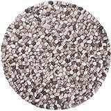 Ayaan: rotondo 70 centimetri di 300cm rotonde del ciottolo Tappeti di colore grigio formati grandi e piccoli lana della Nuova Zelanda (20cm / 0.65'')