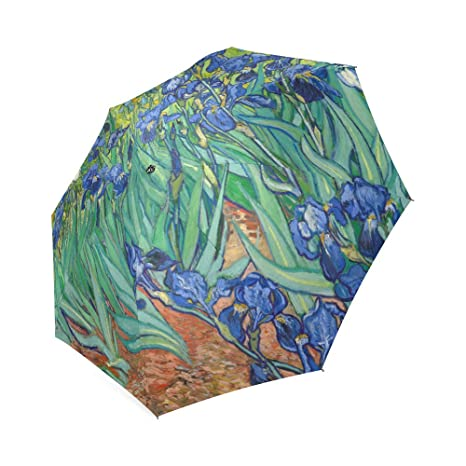 Amazon.com: Irises By Vincent Van Gogh, Christmas Gift Folding Rain Umbrella/Parasol/Sun Umbrella: Garden & Outdoor