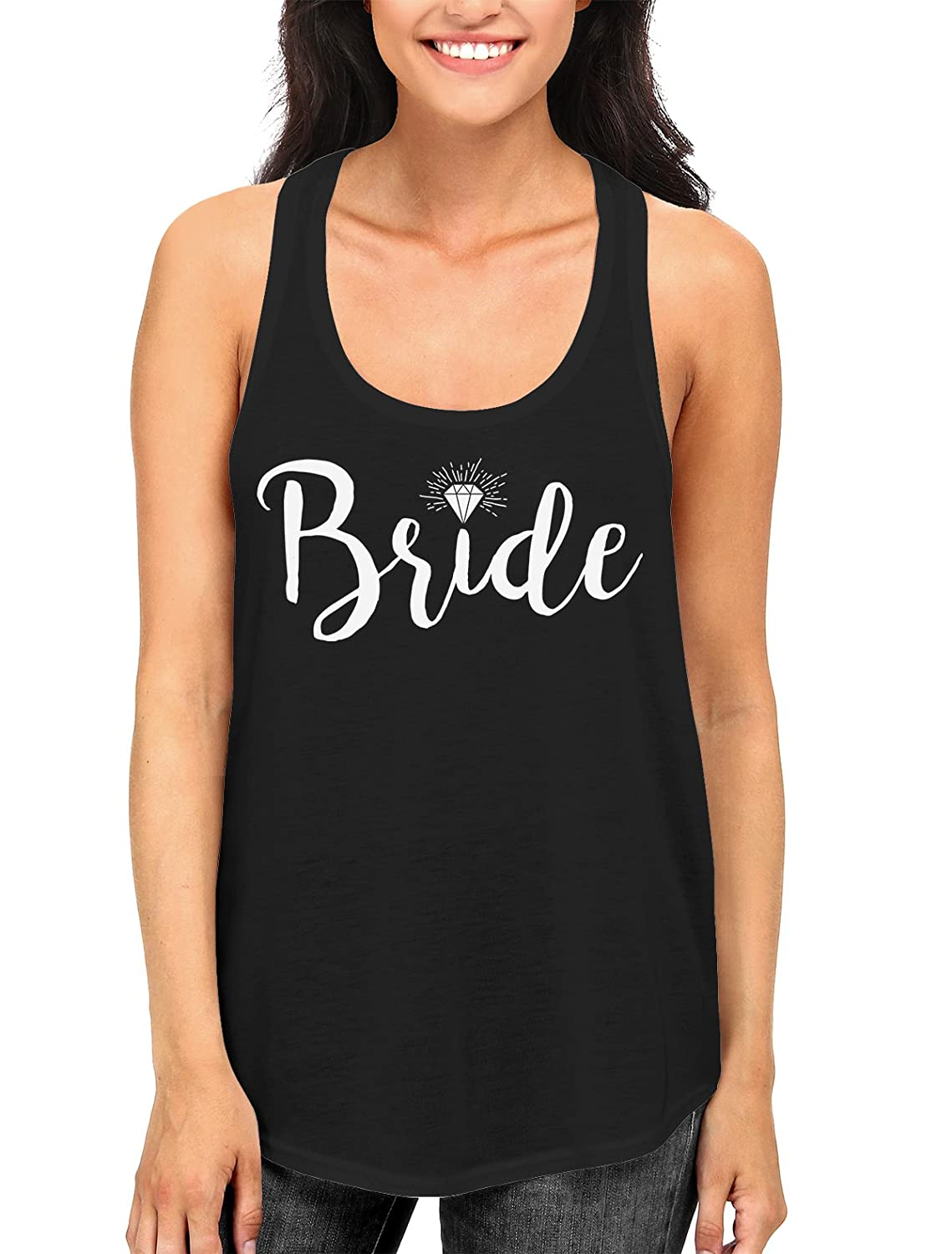 Diamond Bride Women's Racerback Tank Top, SpiritForged Apparel