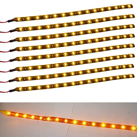 Amazon.com: 8 tiras flexibles XT AUTO con 15 luces LED en un ...