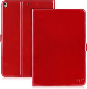 FYY Case for 2019 iPad Air 3 10.5/2017 iPad Pro 10.5 inch, Handmade Genuine Leather Case with Kickstand Function for 2019 iPad Air 3 10.5/2017 iPad Pro 10.5 inch Wine Red