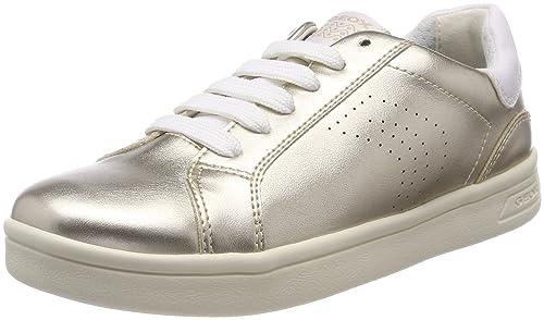 Geox J Djrock a, Zapatillas para Niñas, Plateado (Silver), 37 EU