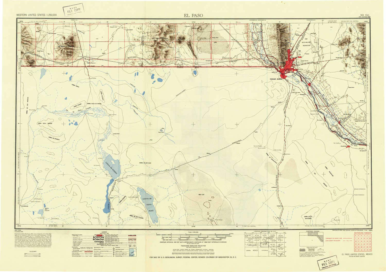 Amazon.com : YellowMaps El Paso TX topo map, 1:250000 Scale ...
