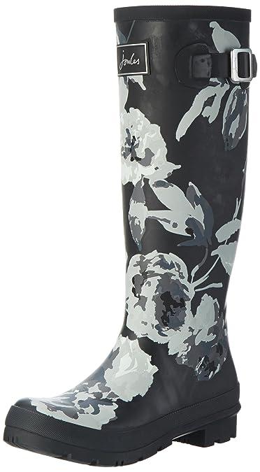 Tom Joule Wellyprint, Bottes de Pluie Femme , Noir , Schwarz (Black Beau  Bloom