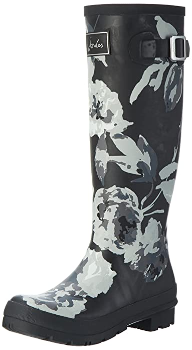 Joules Damen Wellyprint Gummistiefel, Blau (French Navy Oyster Catcher), 36 EU (3 UK)