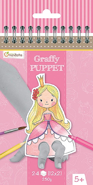 1 St/ück Avenue Mandarine GY009O Malblock Graffy Puppet ideal f/ür Kinder ab 5 Jahren Drachen und Ritter 250g Zeichenpapier mit je 12 Motiven x 2