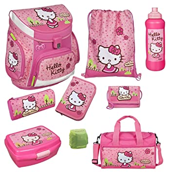 786aabdbf2307 Familando Hello Kitty Schulranzen Set 9tlg. mit Sporttasche ...