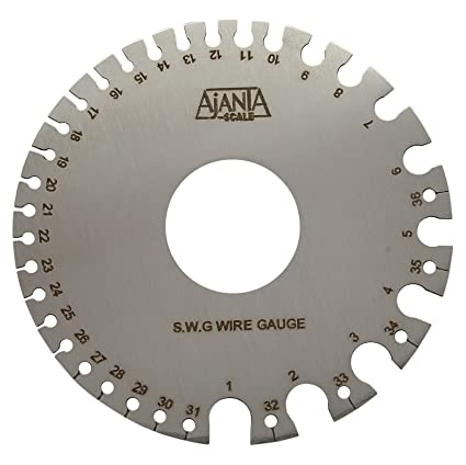 Wire gauge metric to standard wire center ajanta wire gauge stainless steel measuring scale 0 to 36 standard metric sizes rh amazon ca standard wire gauge to metric conversion american wire gauge greentooth Images