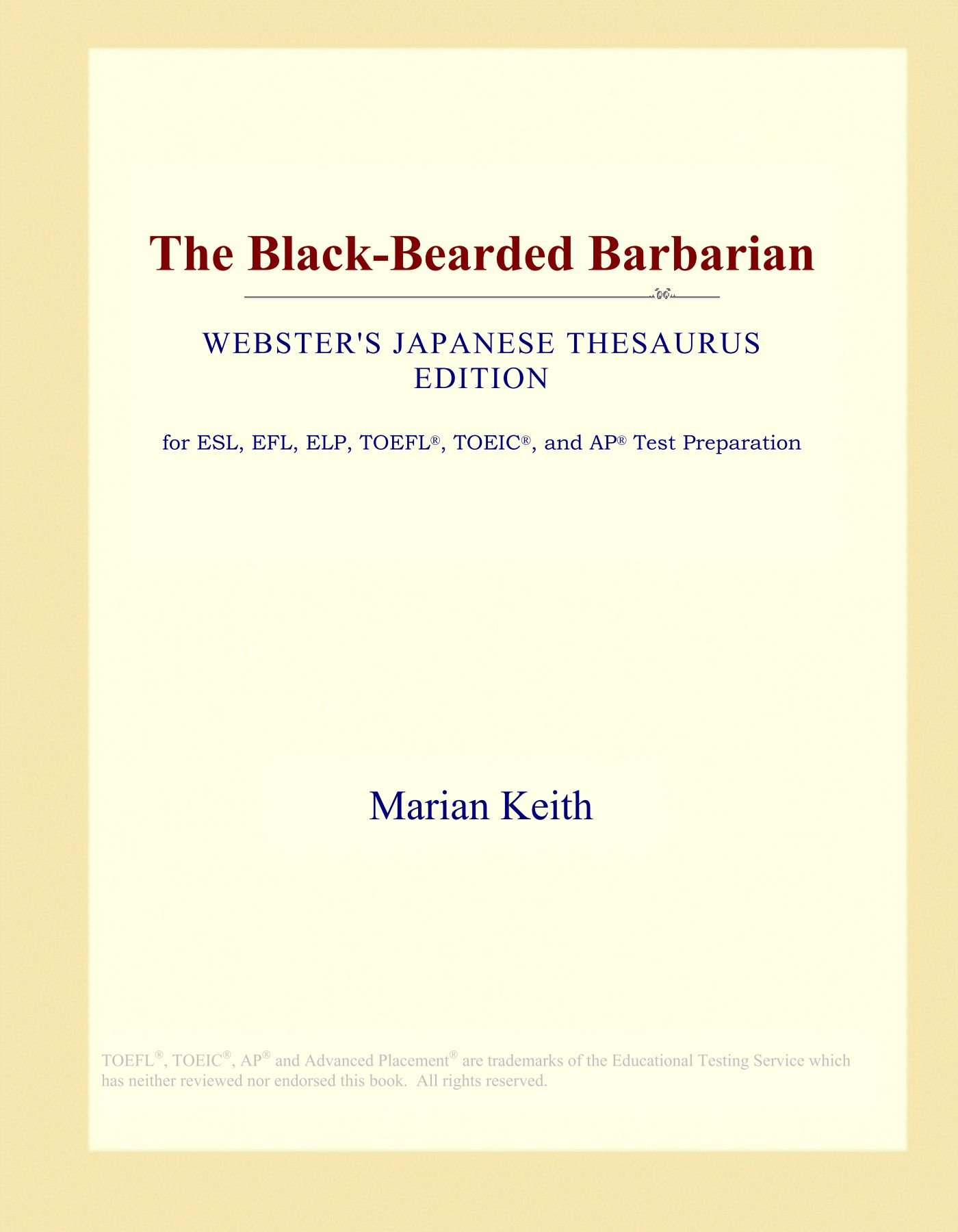 Download The Black-Bearded Barbarian (Webster's Japanese Thesaurus Edition) pdf