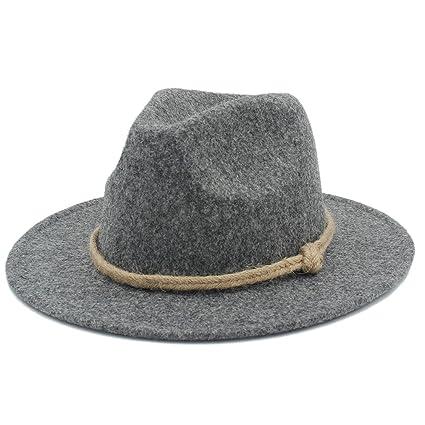 Ruanyi Cappello Fedora a tesa larga da uomo in lana retro per cappellino da  baseball Laday Cashmere Jazz Cappello Gentleman a cilindro sombrero Panama  con ...