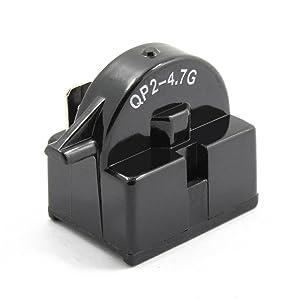 spartshome New QP2-4.7 Start Relay Refrigerator PTC Ohm 1 Pin for Vissani Danby Compressor