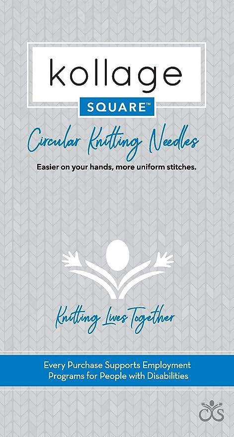 """Kollage Square Circular Knitting Needles 32/"""" ORIGINAL"""