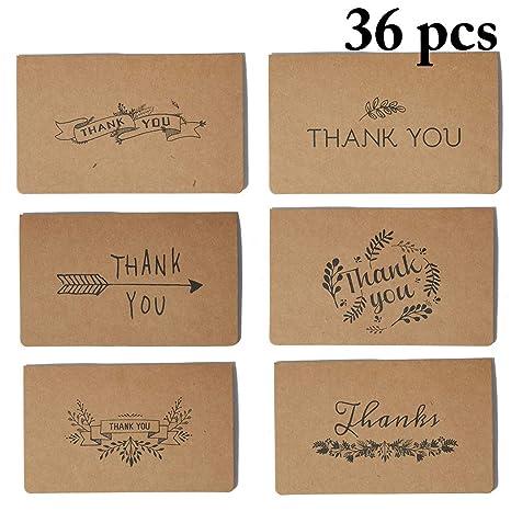 JUSTDOLIFE 36PCS Tarjeta De Agradecimiento Creativo Tarjeta ...