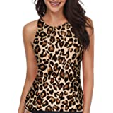 Holipick High Neck Tankini Top Bathing Suit Tops for Women Tummy Control Tank Tops Swimsuits