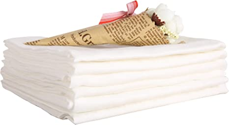 10 piezas de tela de algodón de doble capa de gasa de alta ...