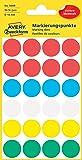 Avery Zweckform 3089 Markierungspunkte (96 Stück, Ø 18 mm) 4 Blatt farbig sortiert