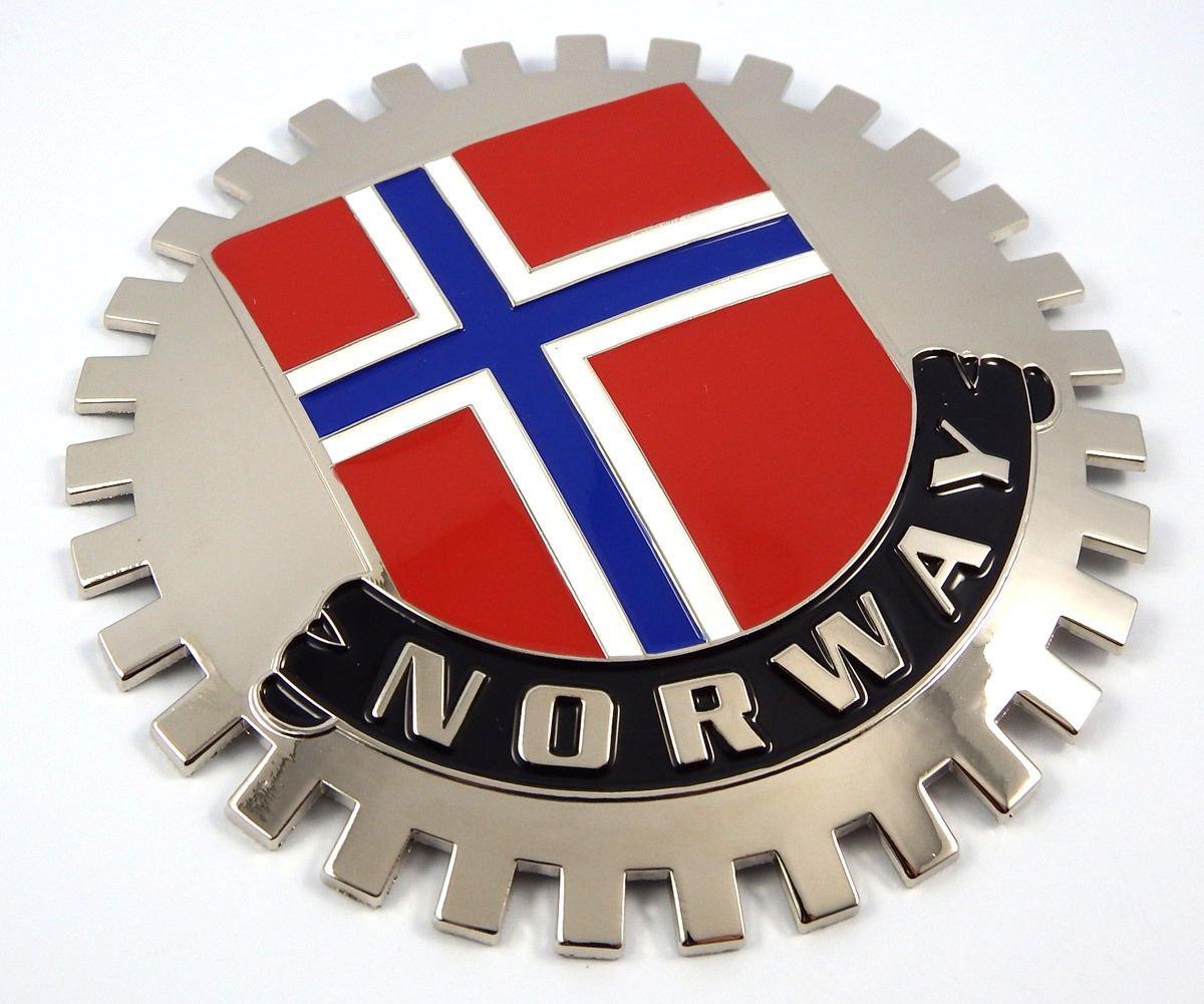 Aplique Parrilla bandera de Noruega chapada