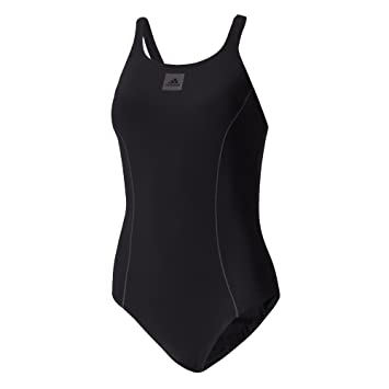adidas Damen Solid Support Badanzug Badeanzug, Black/Utiblk, 34
