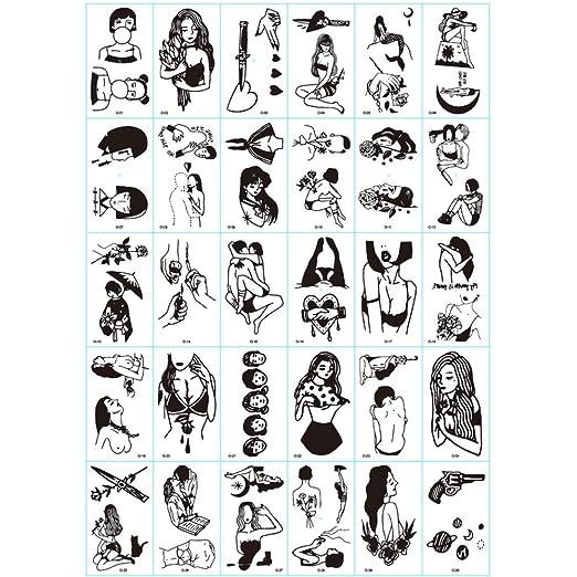 ZXLIFE@@ Mini Etiqueta Engomada Impermeable del Tatuaje, Tatuajes ...