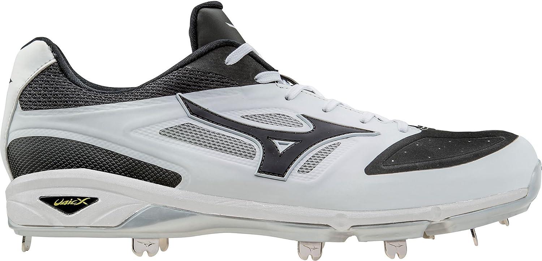 ミズノ スポーツ 野球 シューズ MIZUNO Men's Dominant IC Metal Baseball WhiteBlack [並行輸入品] B073142HBH 11.5