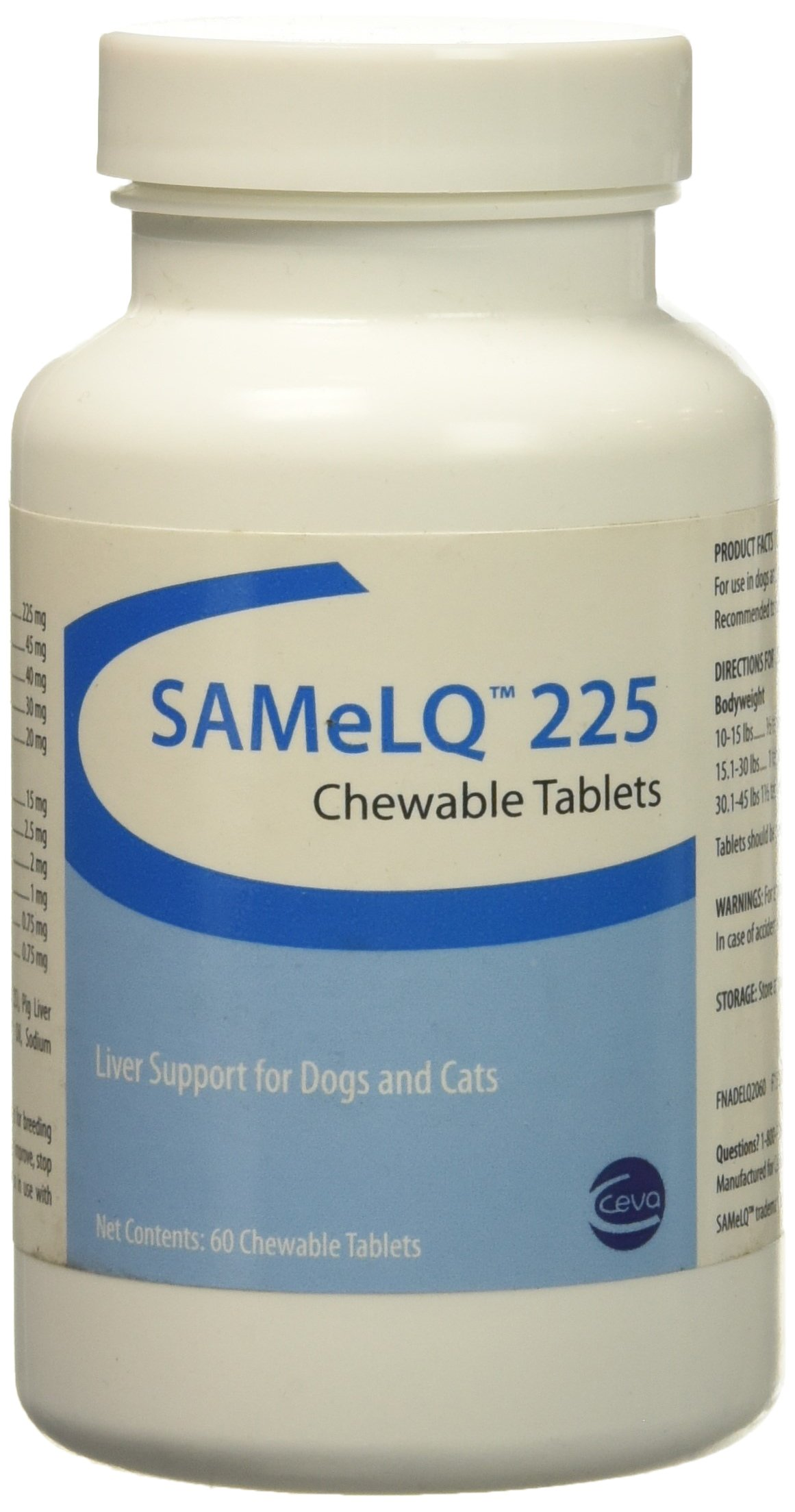 S Adenosyl 225 (SAMe) for MEDIUM / LARGE DOGS 225 mg (60 tabs) by Vitality