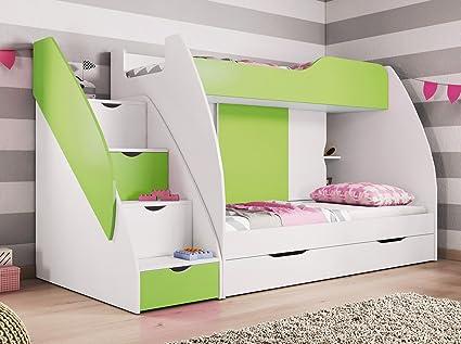 Niños litera cama set Martin con colchones. Express entrega disponible