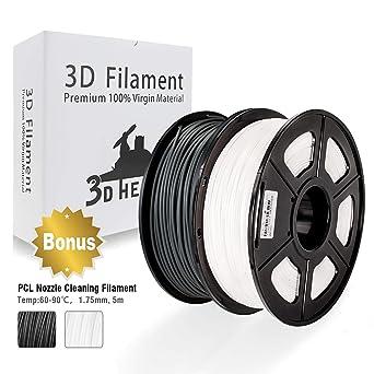 PLA Filament, 3D Hero PLA Filament 1.75mm,PLA 3D Printer Filament, Dimensional