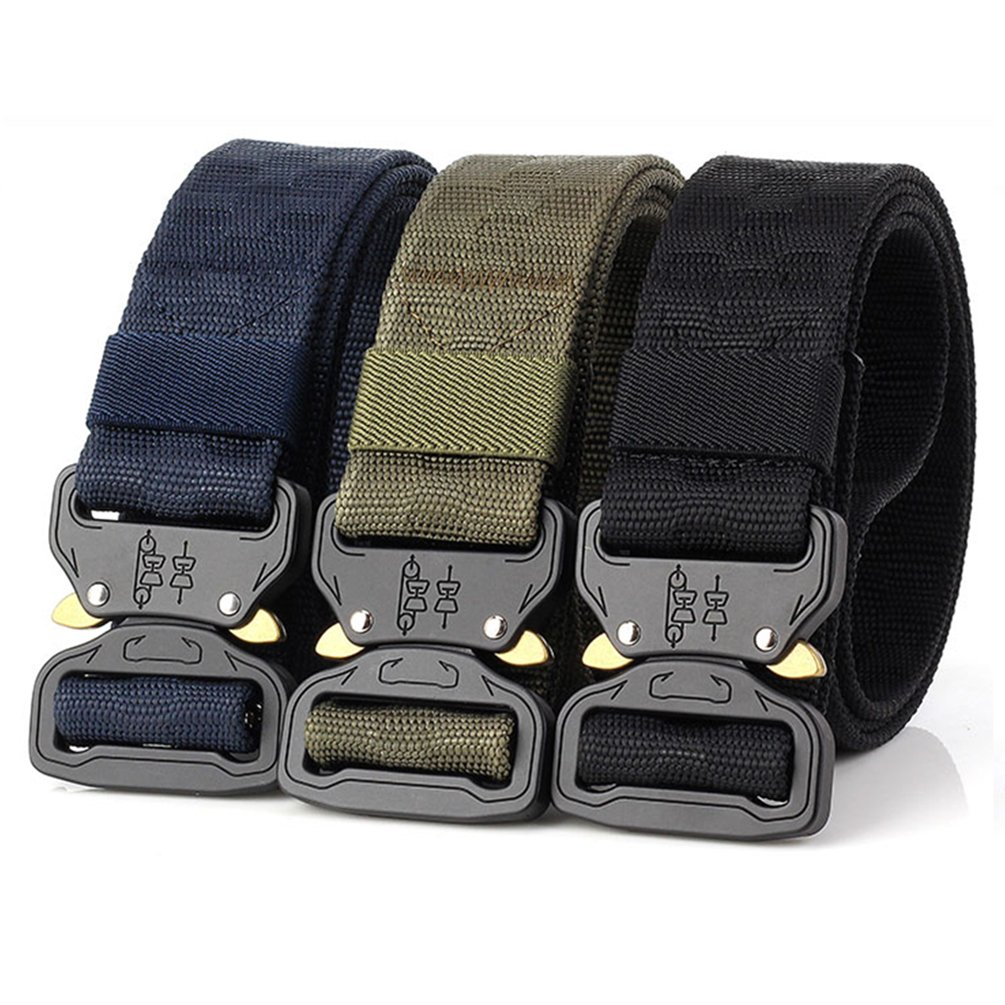 Thickyuan Men's Tactical Belt Heavy Duty Webbing Belt Adjustable Military Style Nylon Belts with Metal Buckle|MOLLE Tactical CQB Rigger|multiple choices by Thickyuan (Image #8)