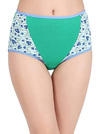 d7ed1ae2ed97 Clovia Women's Cotton High Waist Floral Print Hipster Panty: Amazon.in:  Clothing & Accessories