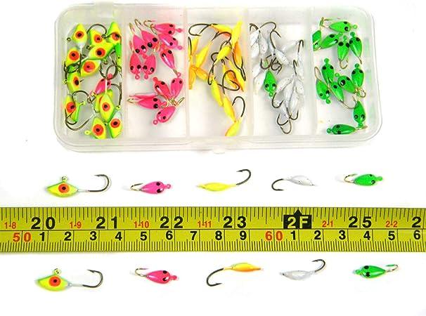 Qualyqualy Winter Ice Jig ami da pesca d acqua dolce acqua salata 0.5/g-1.24g mini metal Bait ami esche artificiali gancio 70/pz